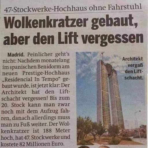 wolkenkratzer ohne Lift